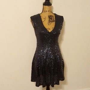 1fda9cd31619 Forever 21. Forever 21 Exclusive Blue Sequin Mini Dress S/M